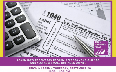 Lunch and Learn: Tax Reform and Real Estate